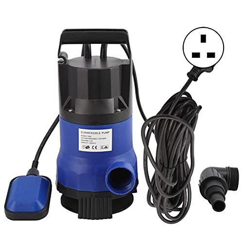 HYZXK April Gift Bomba de Agua Sumergible ABS, Resistente a la corrosión, Resistente al Desgaste, Bomba de Aguas residuales, Profundidad de Buceo de 7 m para Acuario de Estanque (Enchufe