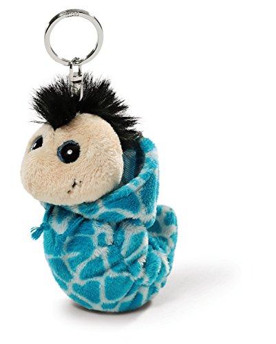 Nici 38475 - Flibbie Schlüsselanhänger mit Kapuze, 12 cm, blau Gemustert