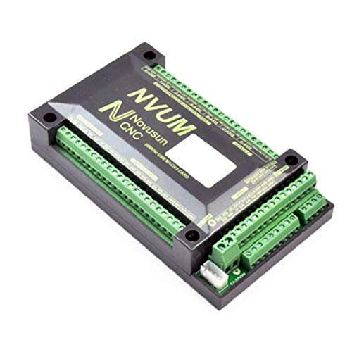 NaiCasy MACH3 Motion Control Card 3 Axis NVUM Motion Control Card CNC Controller 3 Axis Breakout Board Black