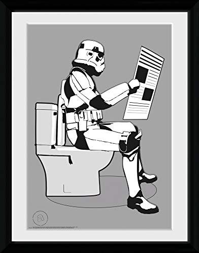 1art1 Star Wars - Original Stormtrooper, Storm Pooper Gerahmtes Bild Mit Edlem Passepartout | Wand-Bilder | Kunstdruck Poster Im Bilderrahmen 40 x 30 cm