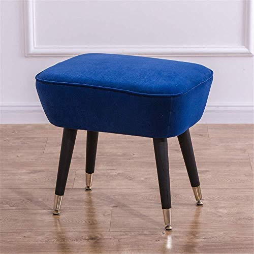 Storage Benches Shoe Bench Pouffe Stool Living Room Ottoman Foot Stool Soft Compact Padded Stool Great For Bedroom And Kids Room For Shoes Wearin (Color : Blue, Size : 52×38×45)