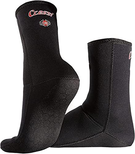 Cressi Metallite Stiefel, Rutschfeste Stiefel für Freitauchen und Tauchen, Neopren 2,5 mm Unisex Erwachsene, Schwarz, L
