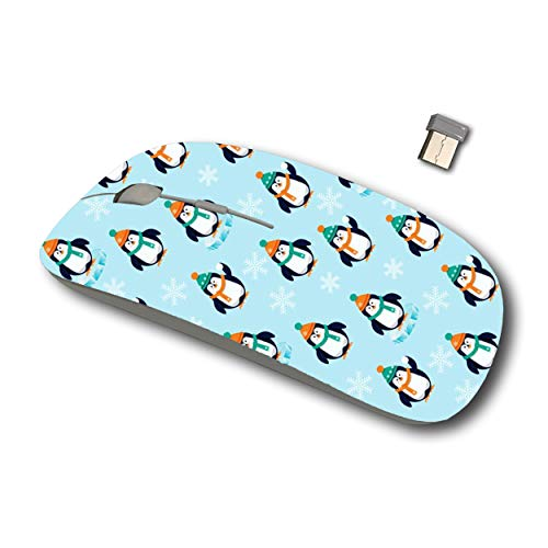 Joan 2.4G Wireless Mouse for Laptop, Ergonomic Computer Mouse with USB Receiver for Windows Mac PC Notebook(Penguins Cute Penguin)