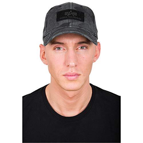 Alpha Industries VLC Cap Streetwear Basecap verstellbar 168903, Farbe:Black camo