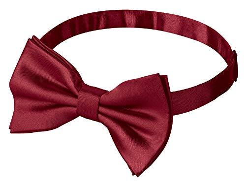 Fanucci bordeaux-rote herren-fliege bordeaux-rot glänzend schleife damen frauen männer mann hund katze weihnachten mann gebunden bow-tie