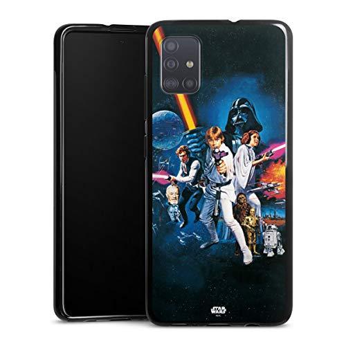 DeinDesign Silikon Hülle kompatibel mit Samsung Galaxy A51 Case schwarz Handyhülle Fanartikel Star Wars Episode IV