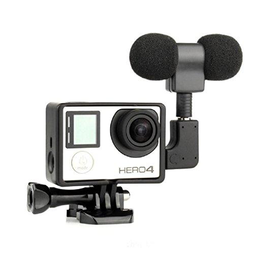 Baodanjiayou Micrófono externo + Adaptador + Marco Estándar Kit Compatible con Hero 4 3+ 3