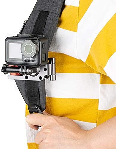 NICEYRIG Soporte de correa para mochila con clip para DJI OSMO Pocket, GoPro Hero 5/6/7/8, Xiaomi YI 4K cámaras deportivas de acción