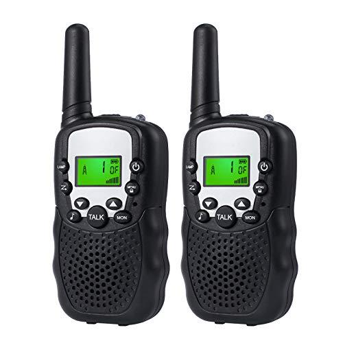 eSynic Walkie Talkie Inalámbrico para Ninos Radio Bidireccional 3km LCD con Larga Distancia 2 vías de Walky Talky para Supermercados Centros Comerciales Festivales y Actividades al Aire Libre