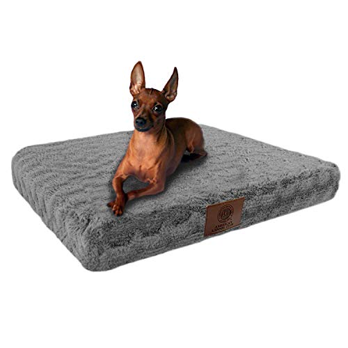 American Kennel Club Orthopedic Crate Pet Bed, 24 by 19-Inch,  Gray