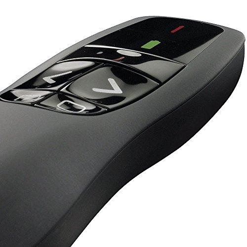 Apresentador Logitech Wireless Presenter R400 - Preto - 910-001354 / 910-001477 / 910-001355