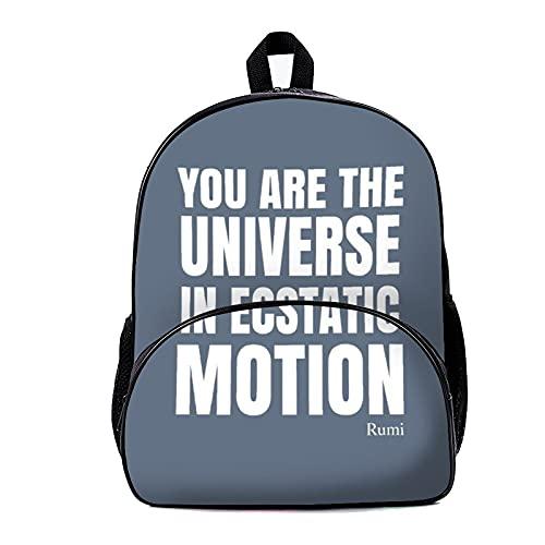 Mochila escolar azul pizarra Rumi 18x30x40cm viaje portátil mochila para hombres mujeres