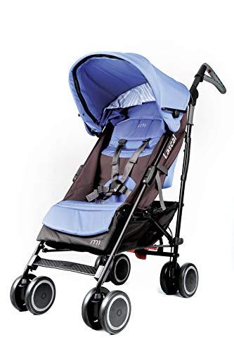 Lascal M1 Buggy Silla de paseo ergonómica y ajustable, cómodo carrito infantil para niños hasta 6 años (22 kg), con capota extensible, compatible con BuggyBoard, azul