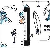 Funda para el Nuevo Kindle Paperwhite Funda de Tela Resistente al Agua (10.a generación, versión 2018), Funda para Tableta con Tablas de Surf Dibujadas a Mano