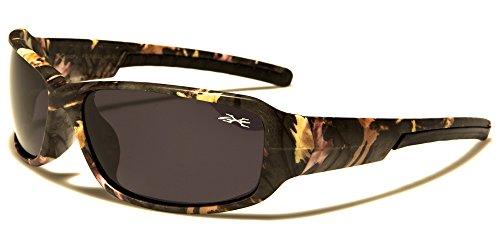 Emeco Gafas de sol polarizadas con diseño de camuflaje, para hombre, deportivas, motocross, ciclistas, X361