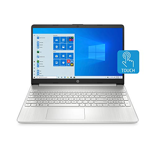 HP 15-inch Touchscreen Laptop, AMD Athlon Gold 3150U, 4 GB RAM, 128 GB SSD, Windows 10 Home in S Mode (15-ef1010nr, Natural Silver)