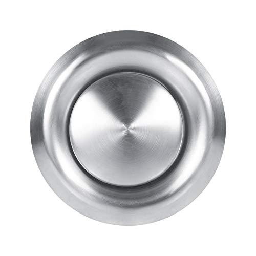 Ventilación de aire redonda - 3 tamaños Techo de pared ajustable Hogar Ventilación de aire de acero inoxidable Cubierta de conducto de ventilación redonda Nuevo(150mm)