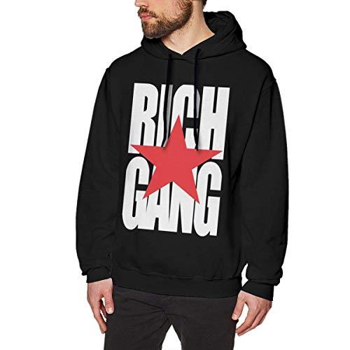 Hombre Sudaderas con Capucha, Sudaderas, Rich Gang RG Mens Long Sleeve Sweatshirts Man'S Hoodies Black