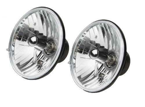 RAMPAGE PRODUCTS 5089925 Universal Clear Halogen Headlight Conversion Kit with Round H4 55/60W Bulbs