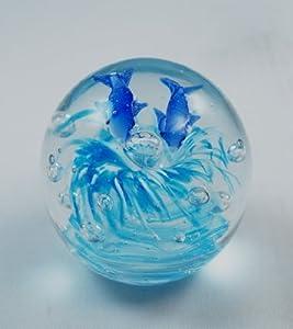 Tripact Inc M Design Art PW-684 - Pisapapeles de diseño de delfines en burbujas transparentes