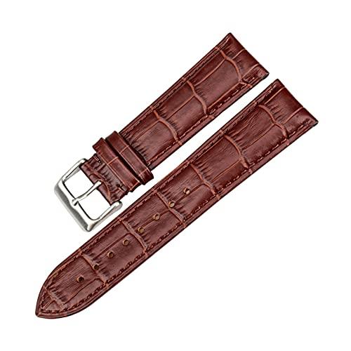 De cuero correa de reloj de 18mm/19mm/20mm/22mm/24mm hombres de venda de reloj de los accesorios del reloj Cambio de la correa, 24mm