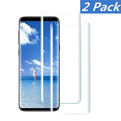 WHJC [2 Stück Galaxy S8 Panzerglas Schutzfolie, Premium 9H Härtegrad Gehärtetem Glas Displayschutzfolie, Blasefrei, Ultra Klar Glatt, Anti-Kratzer, für Samsung Galaxy S8(Transparent)