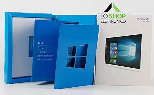 Windows 10 Home USB 32 e 64 Bit + Key Card con Licenza - Scatola - Attivazione Online - Fatturabile