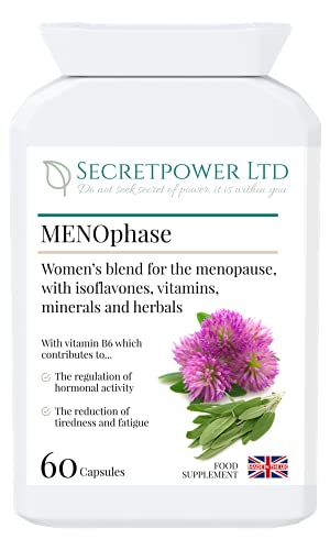 MENOphase, Herbal Food Supplement for Women, 60 kapsules