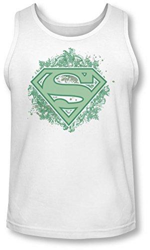 Superman - - Ornement Bouclier Tank-Top pour hommes, Large, White