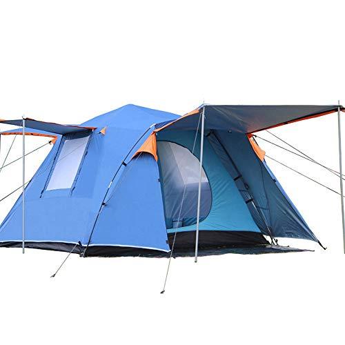 Tragbares Außenzelt Doppelschichtiges, verdicktes Campingzelt Quadratisches Zelt für 3-4 Personen Regensicheres Zelt für Außen- und Wandertouren