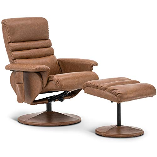 Mcombo Massage Reclining Chair with Ottoman