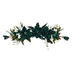 Silk Flower Depot FW901-HG Magnolia Swag, Hunter Green