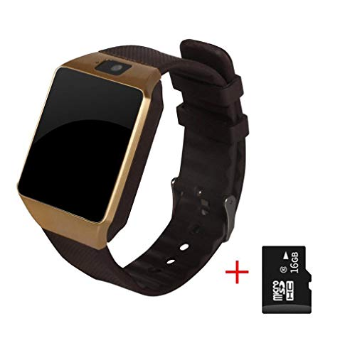 Oyznsb Bluetooth polshorloge voor mannen vrouwen Ticwatch Sport Fitness Tracker voor iOS iPhone Samsung Huawei Xiaomi mobiele telefoon Android, Gold with 16G