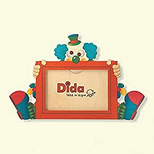 Dida - Cadre Photo Bois Enfant - Clown - Cadre pour Photo Horizontale