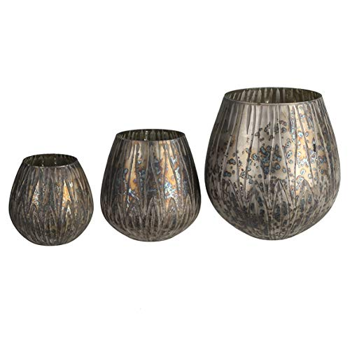 Casablanca Windlicht Odessa bronzebraun,GlasH.18cm