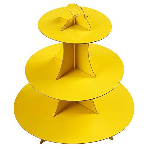 YLDW 3-Tier black Cardboard Cupcake Stand holder