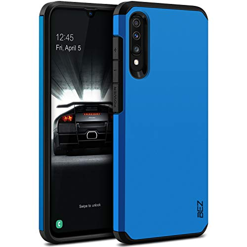 BEZ Funda Samsung Galaxy A70, Carcasa Protectora para Samsung Galaxy A70 Antideslizante Ultra Híbrida Gota Protección, Cover Anti-Arañazos con Absorción de Choque Resistente (Azul)