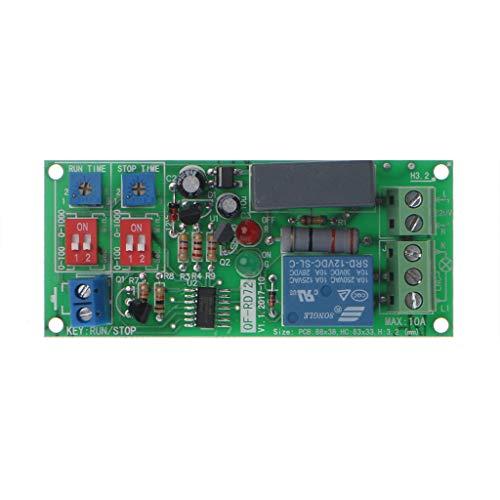 Rtengtunn Zeitrelaisschalter für Zyklusverzögerung EIN- / Ausschalten des Moduls AC 110V 120V 220V 230V