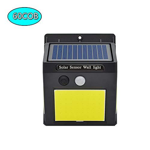 WYY 60 COB LED zonnelamp bewegingsmelder PIR draadloze beveiliging waterdicht eenvoudige installatie deur garage tuin