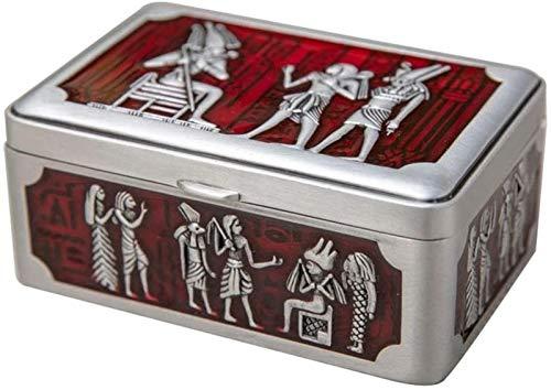 GIAOYAO Jewellery Box Organiser European Style Retro Zinc Alloy Jewelry Box Creative Metal Home Desktop Storage Box Jewelry Box for Girls Ladies Women