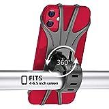 TAIYUNWEI Soporte de teléfono para Bicicleta, Giratorio 360°, Ajustable, Desmontable, de Silicona, para teléfono de Bicicleta, Universal,Compatible con iPhone/Huawei Mate/Samsung Galaxy Series