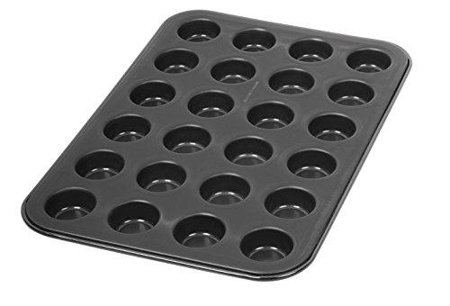 Dr. Oetker Muffinform 24-er Mini Ø 3 cm, Cupcake Form für saftige Muffins, Muffinblech mit Antihaftbeschichtung, Menge: 1 Stück