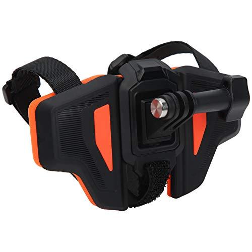 Teror Cinturino per Casco per Action Cam, Supporto per Staffa di Fissaggio per Cinturino per Montaggio su Mento per Casco Moto Universale per Action Cam