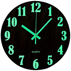 Non-Ticking Wall Clock: Super-quality quartz sweep movement guarantees accurate time and absolutely silent environment. Luminous Numbers: In the daytime, it only needs to be used under normal light or light to absorb the light energy. At night, the n...