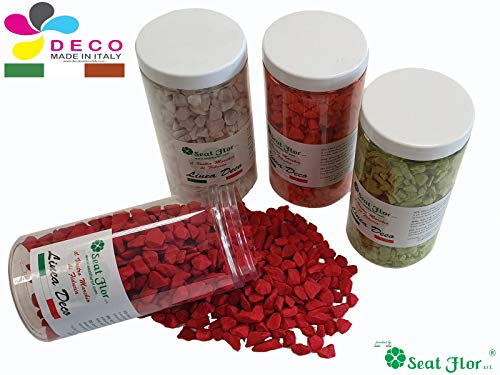 Deco Made en Italy Pierre colorée, cailloux colorés 9/13 mm, conditionnée en terre cuite pot de 550 ml – 750 gr