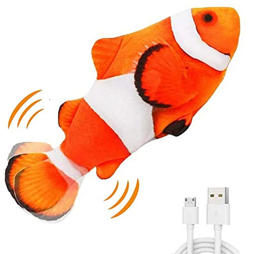 Electric Moving Fish Interactive Plush Toys