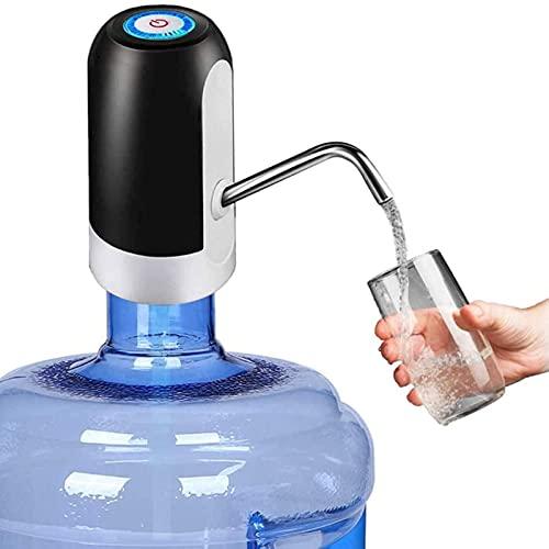 GQTYBZ Dispensador de Botella de Agua de 5 Galones, Bomba de Agua Potable Automática con Carga USB, Bomba de Botella de Agua Eléctrica Portátil, Bomba de Jarra de Agua para el Hogar/Oficina