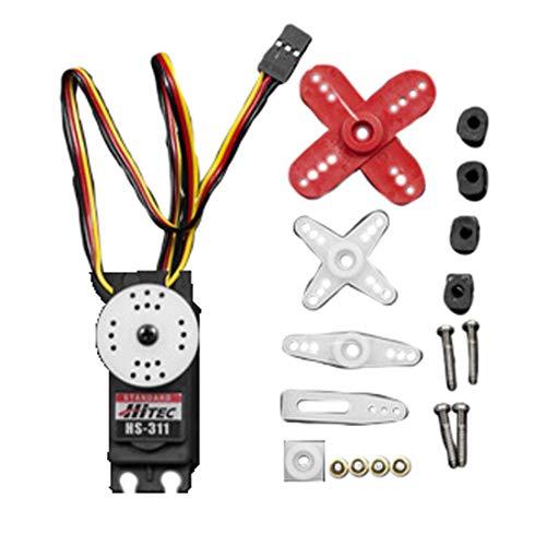 DFRobot Hitec HS311 Standard Servo Leiterplatte 180° bei Impulssignal von 600 bis 2400 U/sek.dreipoliger Bürstenmotor mit elastischen Nylon-Zahnrädern