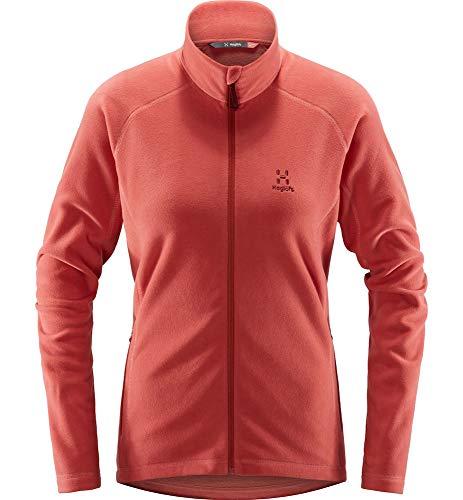 Haglöfs Fleecejacke Frauen Fleecejacke Astro Jacket Women Wärmend, Atmungsaktiv, Elastisch Extra Small Rusty Pink L L
