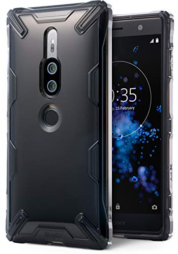 Ringke Air-X Case Compatible with Xperia XZ2 Premium Lightweight Transparent TPU Protective Case Scratch Resistant Supports QI Wireless Charging Sturdy Cover for XZ 2 Premium - Smoke Black